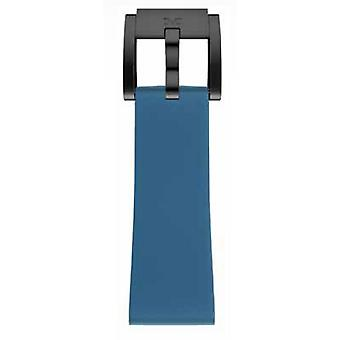 TW Steel Marc Coblen Bracelet Watch band silicone 22 MM blue SB_BL_B