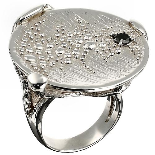 Discus Silver Luxury Ring