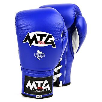 MTG Pro Blue Lace-up Boxing Gloves