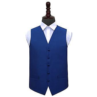 Royal Blue Greek Key Wedding Waistcoat