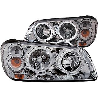 Anzo USA 121202 Nissan Maxima Chrome Clear With Halos Headlight Assembly - (Sold in Pairs)