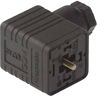 Hirschmann 931 969-100 GDM 3009 sw Right-angle Connector Black Number of pins:3 + PE