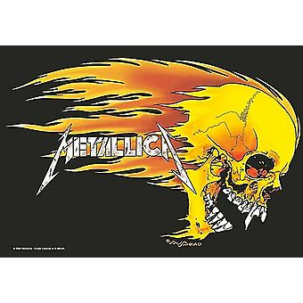 Metallica Skull & Flames Large Fabric Poster/ Flag 1100Mm X 750Mm