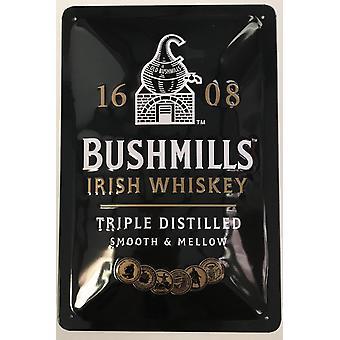 Bushmills whisky preget stål tegn