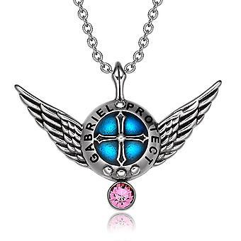 Erzengel Engelsflügel Gabriel Schutzschild magische Kraft Amulett Anhänger Halskette