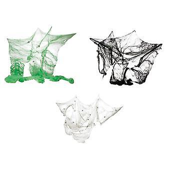 Spider Web 60 g met 4 spinnen mesh accessoire carnaval Halloween