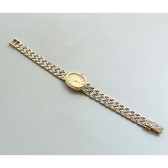 Geel gouden Bouchard horloge
