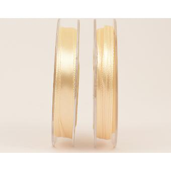 SALE - 10mm Beige Ivory Polyester Satin Craft Ribbon - 10m