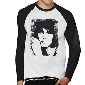 TV volte da Baseball Joanna Lumley 1976 maschile a maniche lunghe t-shirt