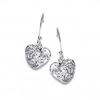 Cavendish Französisch Herz zu Herz Silber Ohrringe