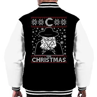 C For Christmas V For Vendetta Men's Varsity Jacket