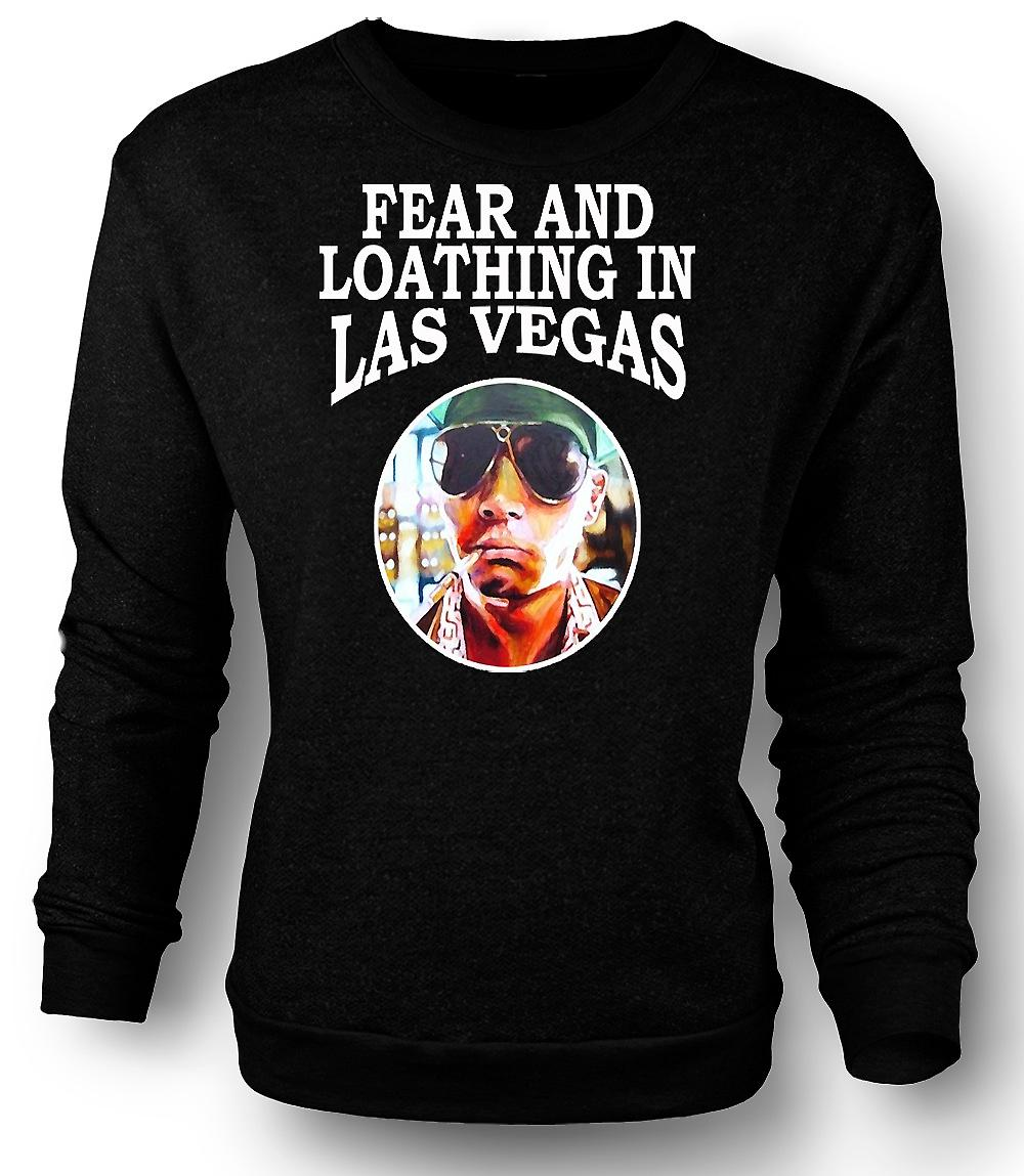 Mens Sweatshirt frykt avsky - Hunter S Thompson Funny - film