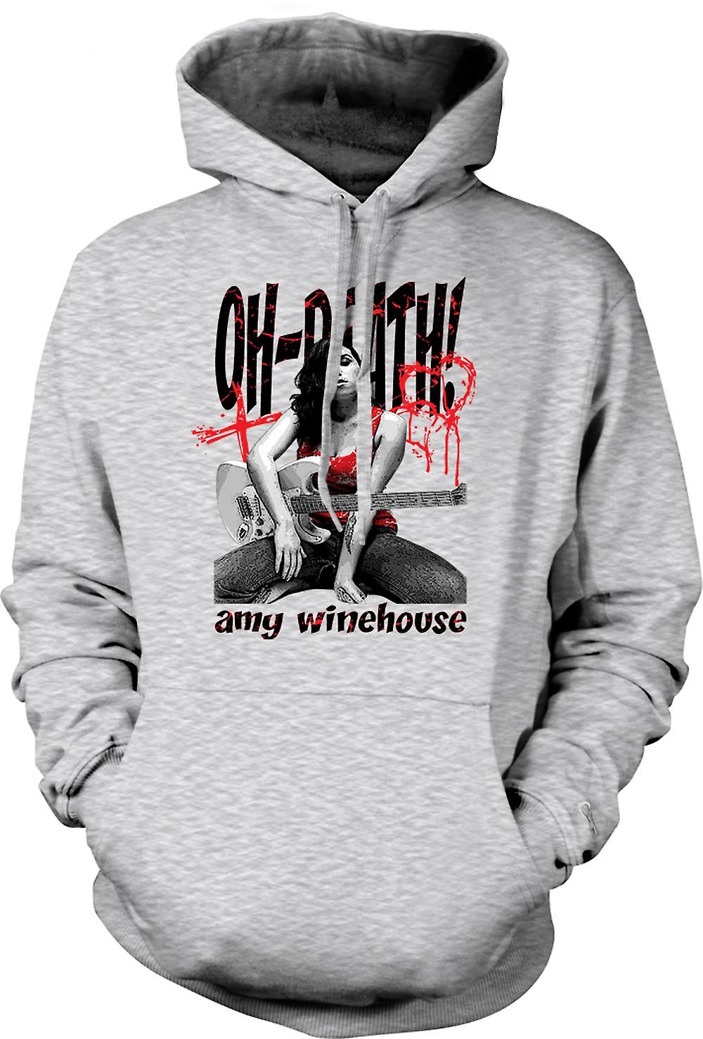 Mens Hoodie - Amy Winehouse - Oh Death