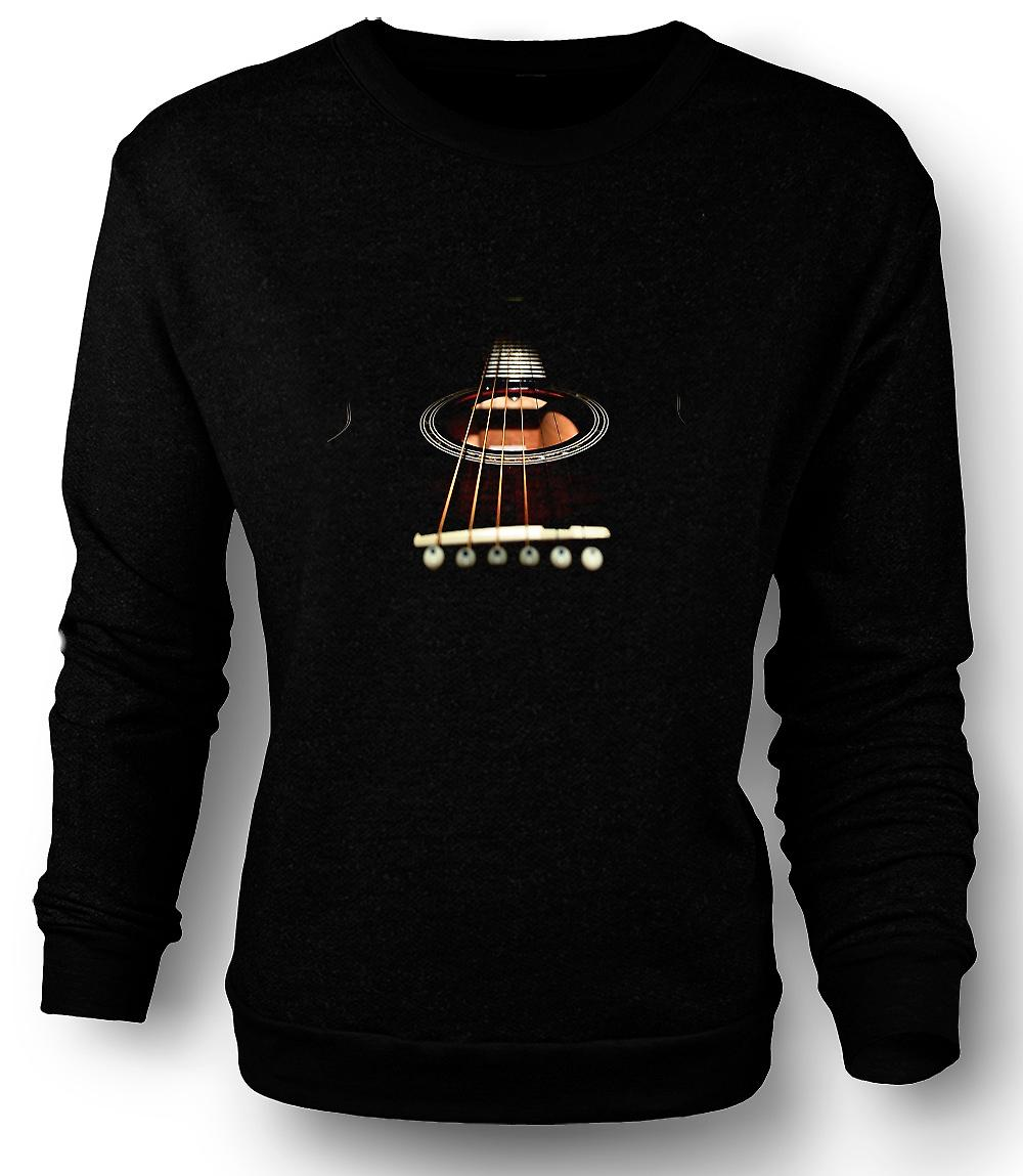 Mens Sweatshirt Acoustic Guitar Strings