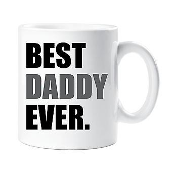 Mejor Daddy nunca taza gris