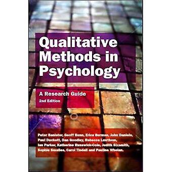 Méthodes qualitatives en psychologie: un guide de recherche: Guide de recherche A
