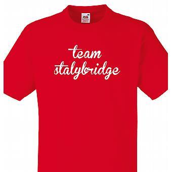 Team Stalybridge rød T shirt
