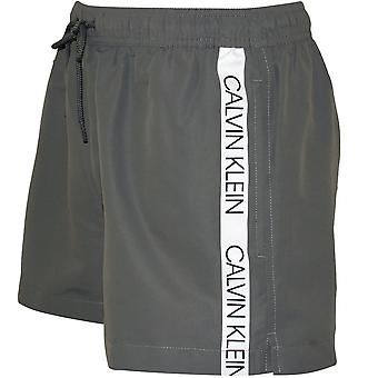 Calvin Klein Core Logo Tape Swim Shorts, gris