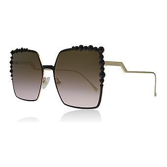 Fendi FF0259/S 2O5 Black FF0259/S Square Sunglasses Lens Category 3 Lens Mirrored Size 60mm