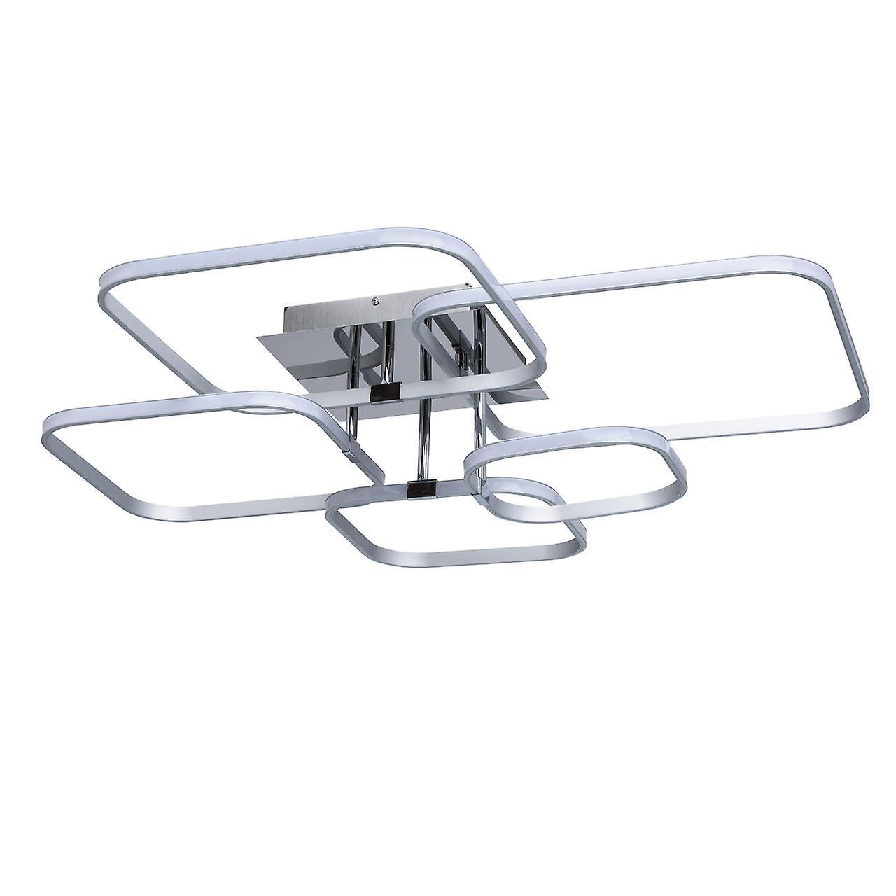 Glasberg - LED Semi-Flush Ceiling lumière Square Design Chrome Finish 496013305