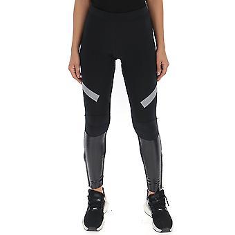 Adidas By Stella Mccartney Black Polyester Leggings