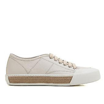 Tod's Beige Leather Sneakers