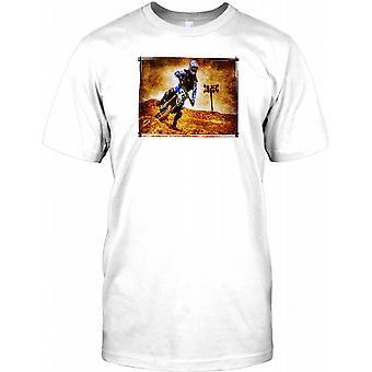 Motocross Rider - Full fart - Grunge effekt barn T Shirt