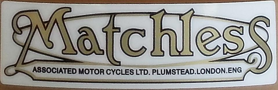 Pair (2) of Matchless vinyl peel off decals / stickers    (ff)