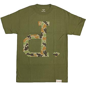 Diamond Supply Co Un Polo Rain Camo T-shirt Green