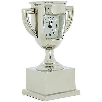 Miniatur Silver Tone Metal Trophy Winners Cup Novelty Collectors Clock IMP1049S