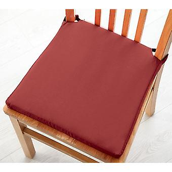 Pack of 4 Cotton Twill Dining Chair Seat Pad Cushion - Wine