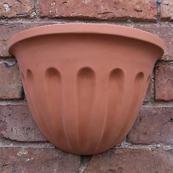 Terracotta Fluted Wall Pots-pair