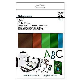 Docrafts Xcut Xtra's A5 Adhesive Metallic Sheets Naturals (20pcs) (XCU 174421)