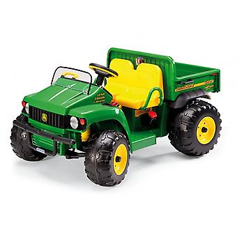John Deere 12V Gator HPX Kids Electric Tractor Two Seater Green/Yellow - Peg