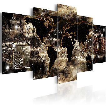 Canvas Print - Continents and stars