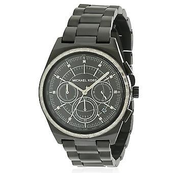 ミハエル Kors ベイル ブラック IP クロノグラフ レディース腕時計 MK6423