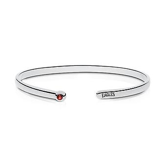 American University Eagles Engraved Ruby Cuff Bracelet