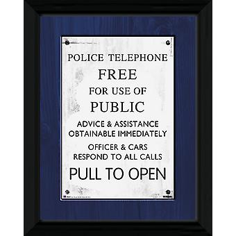 Doctor Who Tardis Sign Framed Collector Print 40x30cm