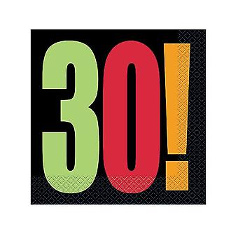 30: e födelsedag hurra servetter