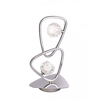 Mantra Lux Table Lamp 2 Light G9, Polished Chrome