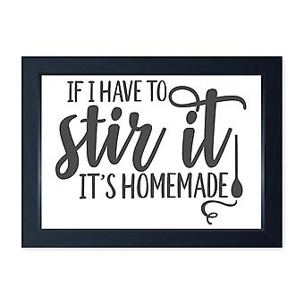 Stir It Homemade, Quality Framed Print - Home Kitchen Bake Cook Cafe