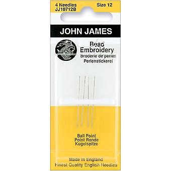 Bead Embroidery Hand Needles Size 12 4 Pkg Jj107 12B