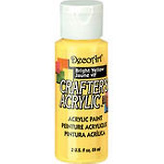 Crafter's Acrylic Gloss All Purpose Paint 2 Ounces Bright Yellow Dcag 49