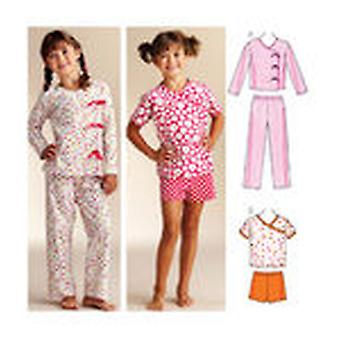 Sleepy Time Pajamas Xs 4 5 S 6 M 7 8 L 10 Xl 12 14  Pattern K3831