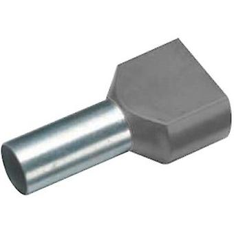 Twin ferrule 2 x 0.75 mm² x 8 mm Partially insulated Grey Vogt V