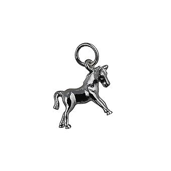 Silver 12x16mm Pony Pendant or Charm