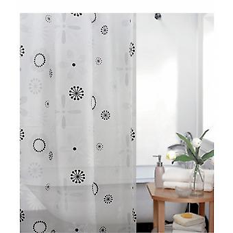 Floral Designer Peva Shower Curtain 180 X 180cm