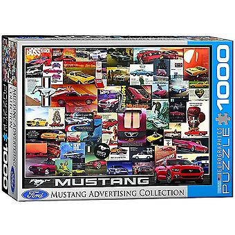 Ford Mustang Vintage Advertising 1000 piece jigsaw puzzle 680mm x490mm  (pz)