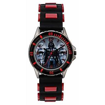 Star Wars barn Star Wars Darth Vader svart läderrem STW3434 Watch
