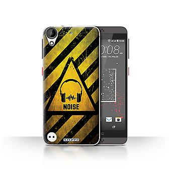 STUFF4 Case/Cover for HTC Desire 630/Noise/Music/Hazard Warning Signs